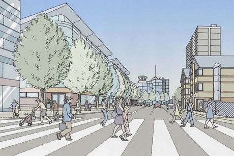 City Centre proposed development and streetscape