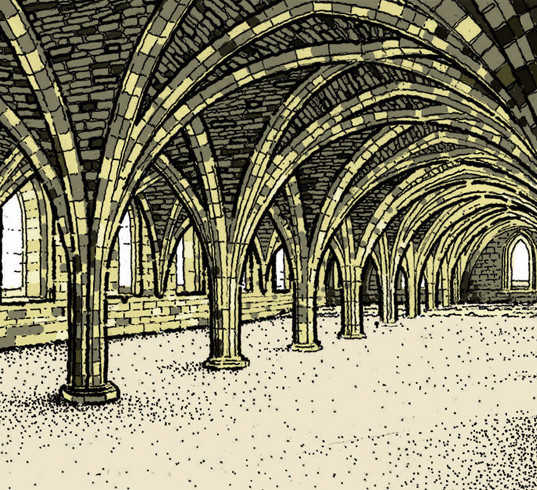 Fountains Abbey Sketch 2