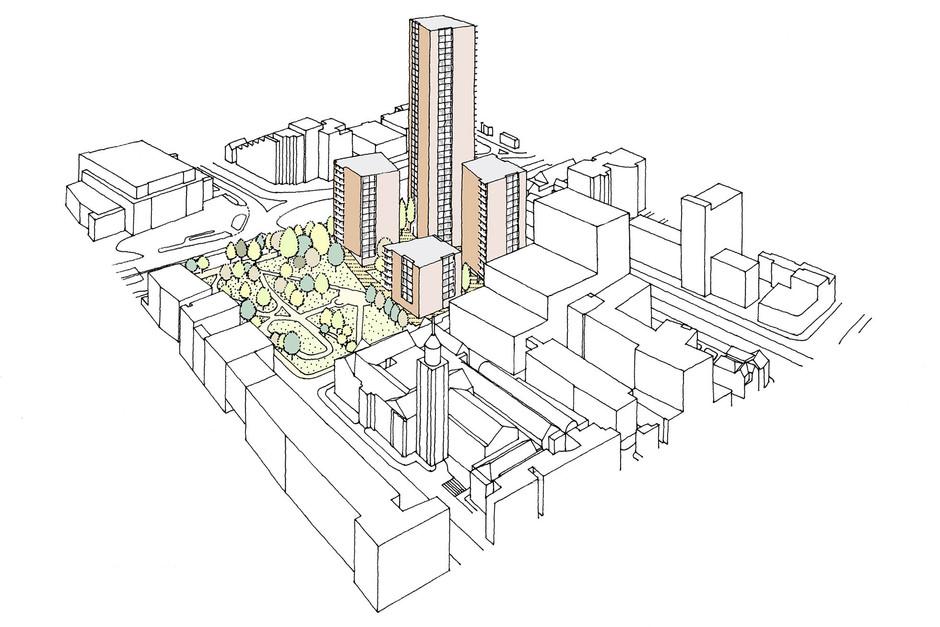 Proposed residential development illustration