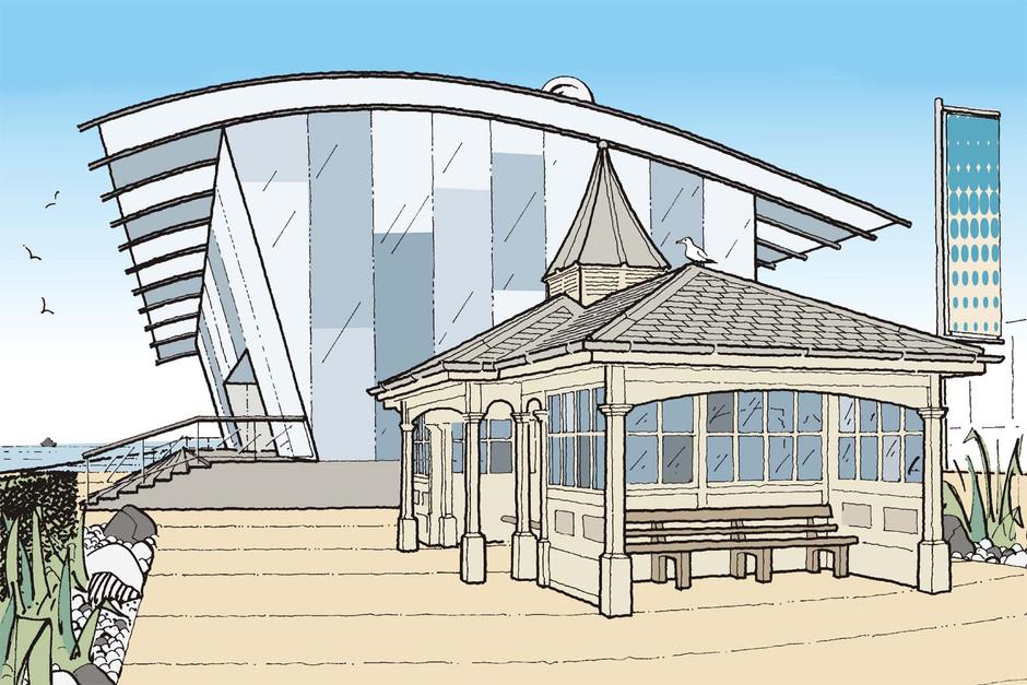 Proposed beach pavilion
