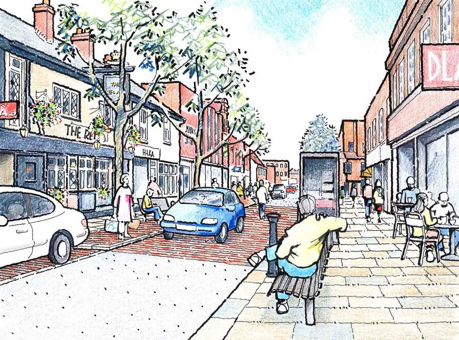 Wokingham Proposed High Street Illustration 2