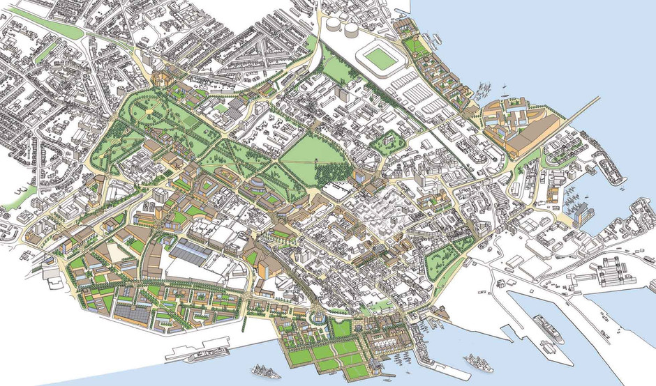 Aerial perspective Masterplan