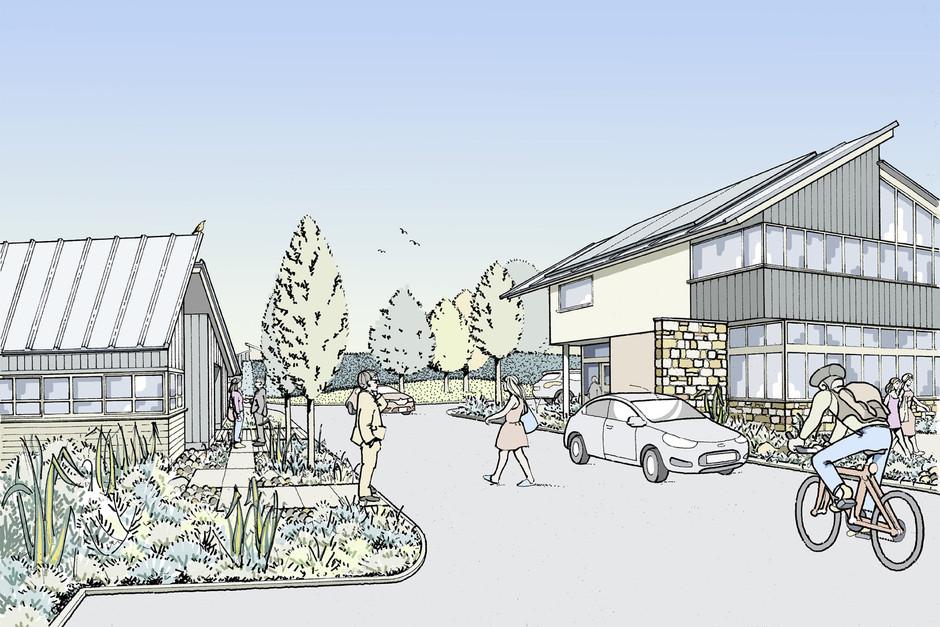 Illustration of proposed business park