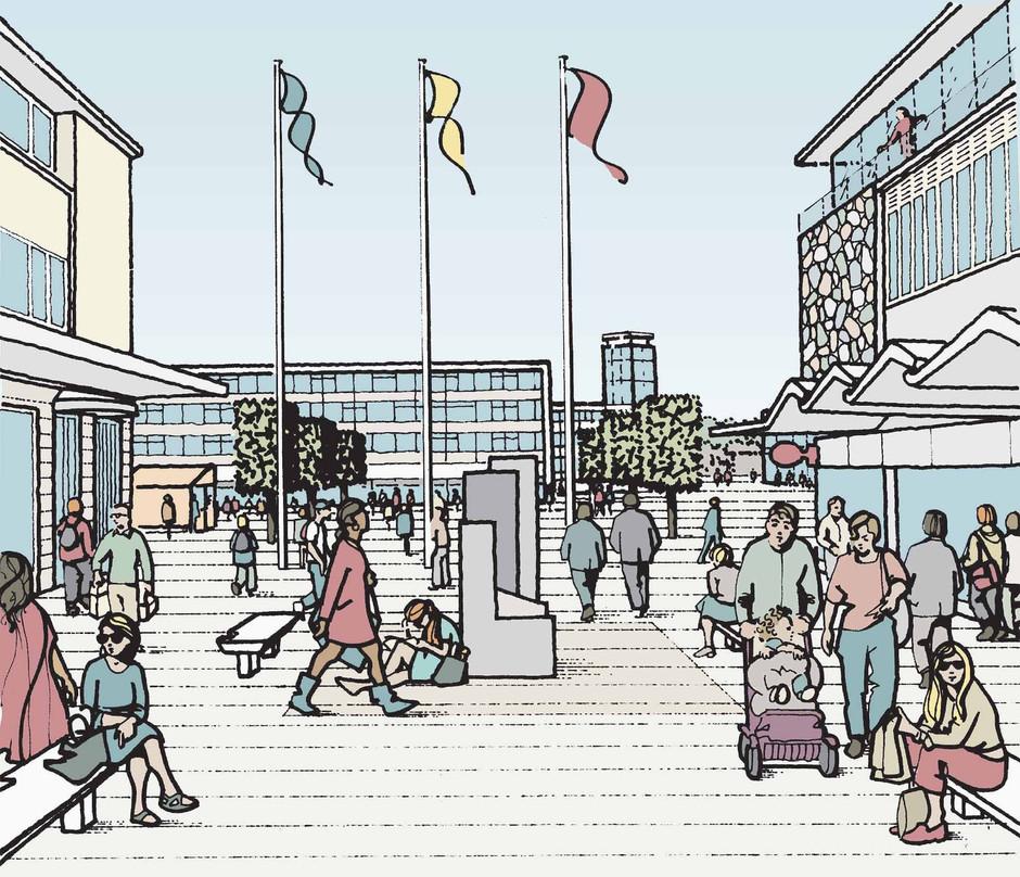 Proposed retail redevelopment illustration