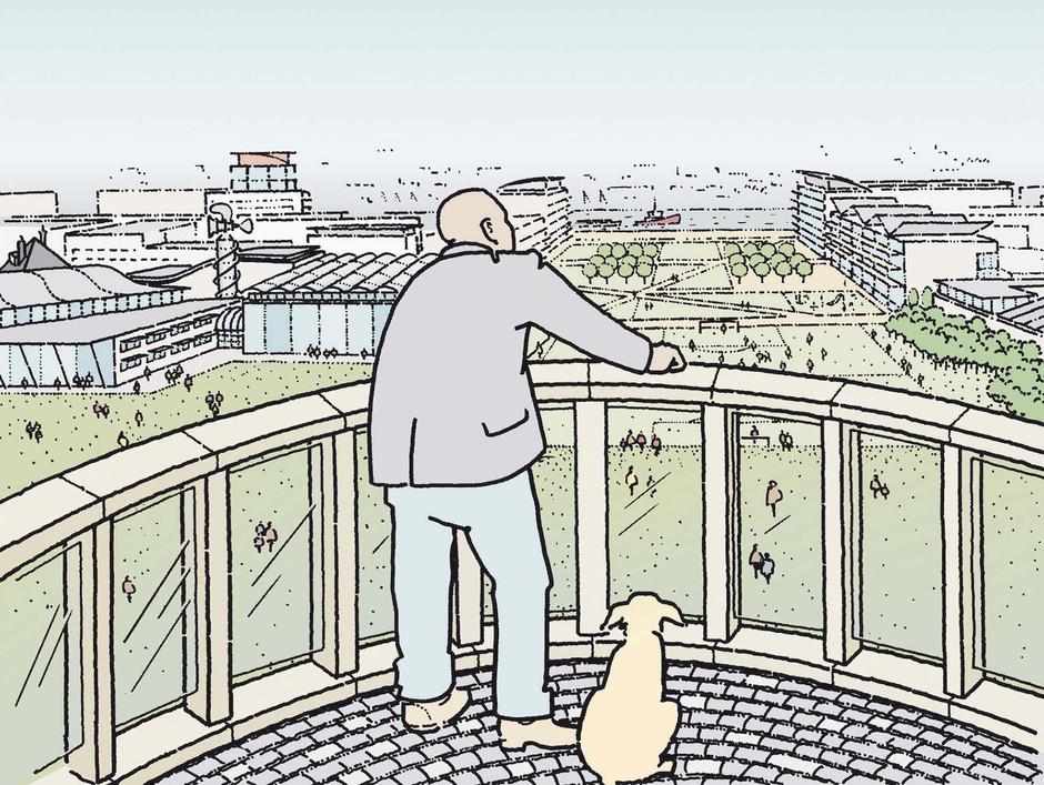 Proposed Quarry viewing platform illustration