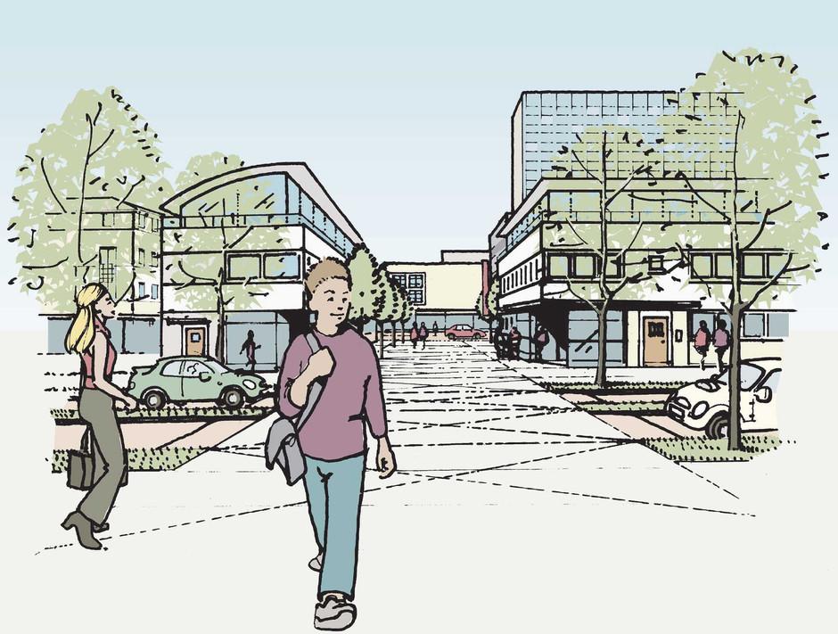 Illustration of proposal at Harlow, Essex