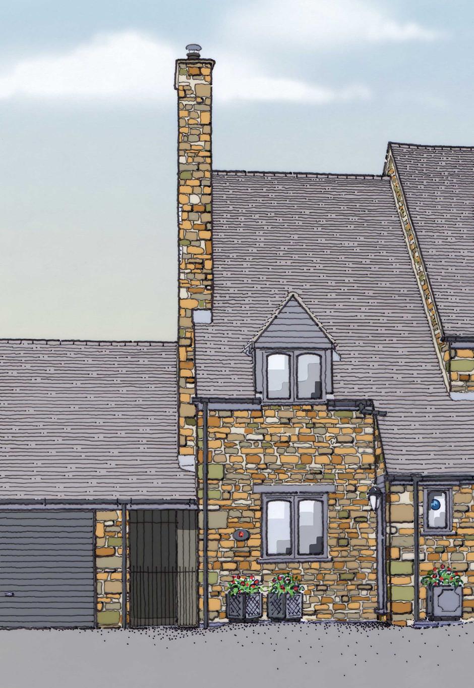 Newnham House Illustration