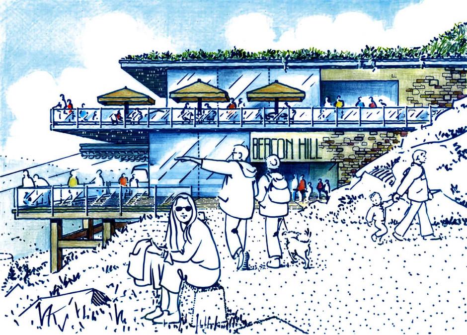 Ski Lodge illustration