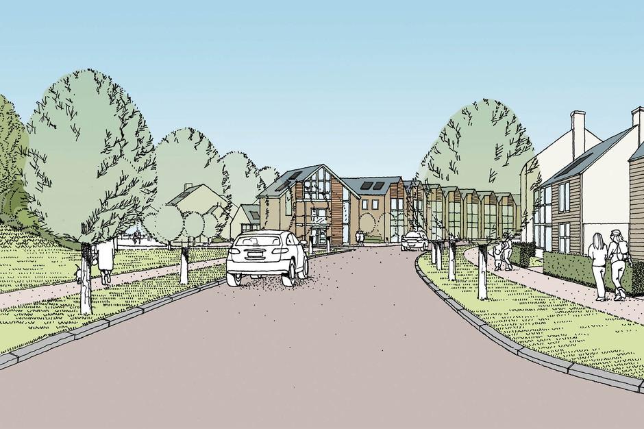 Estate Road Illustration