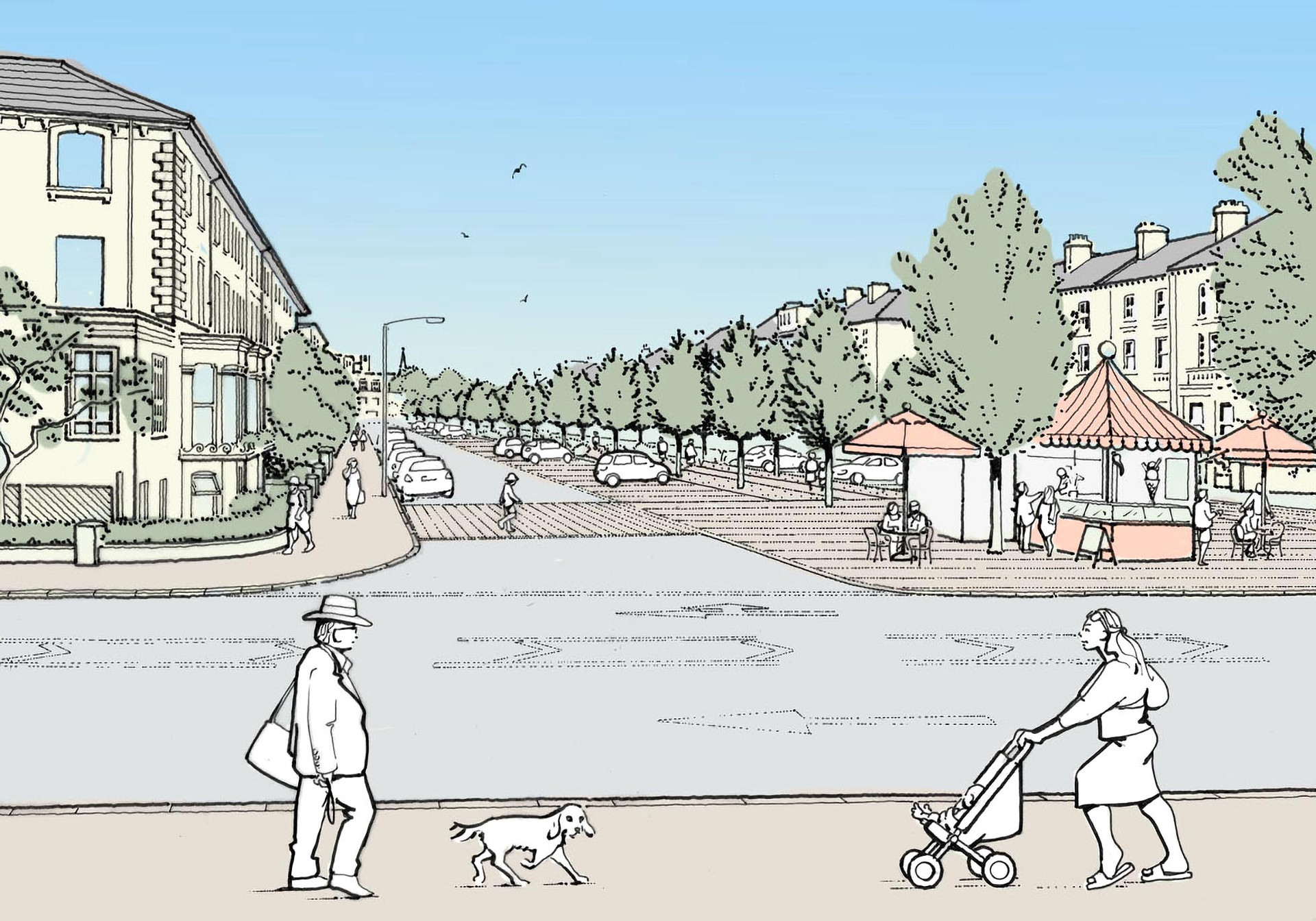 Proposed streetscape illustration