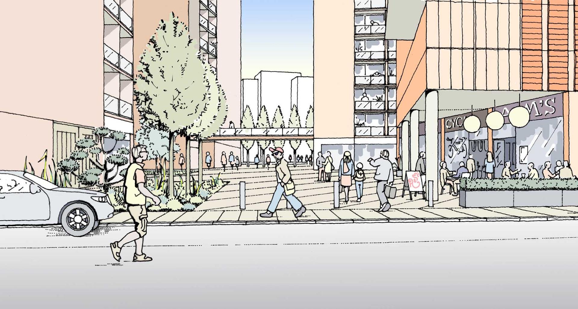 Public square Illustration
