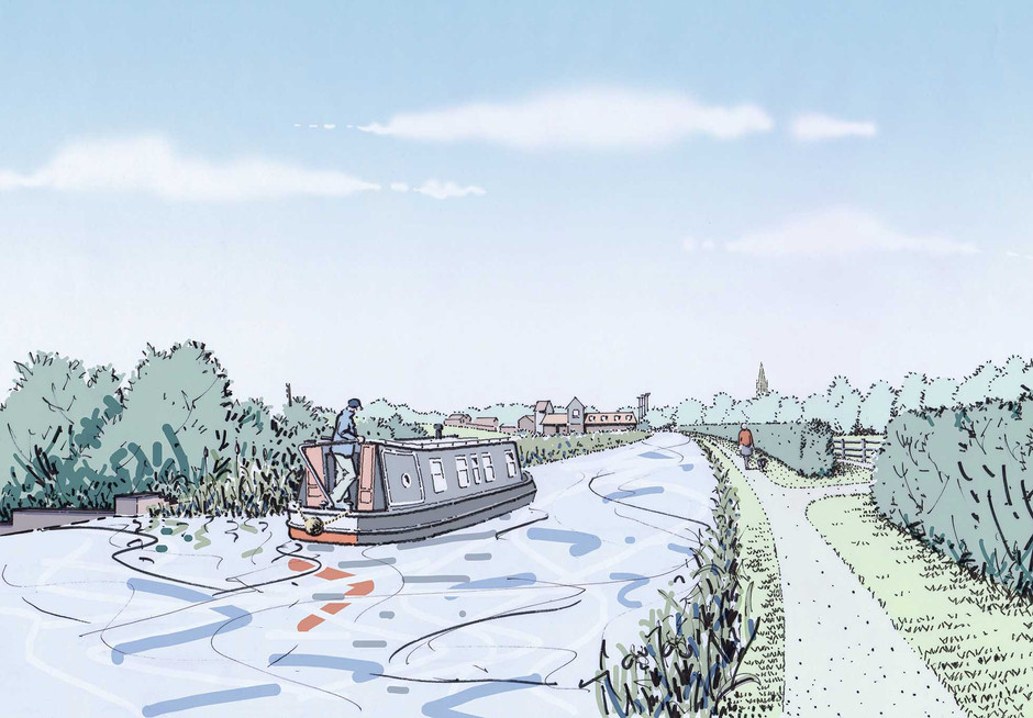 Towpath and associated landscape illustration