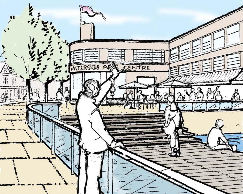 Proposed public realm illustration