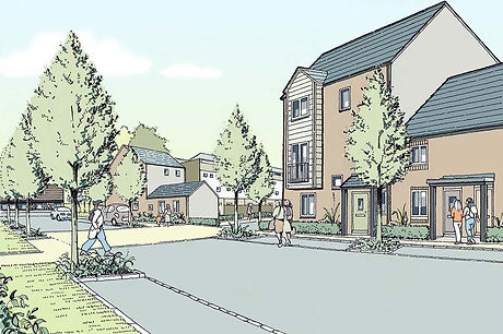 Proposed residential development and streetscape 1