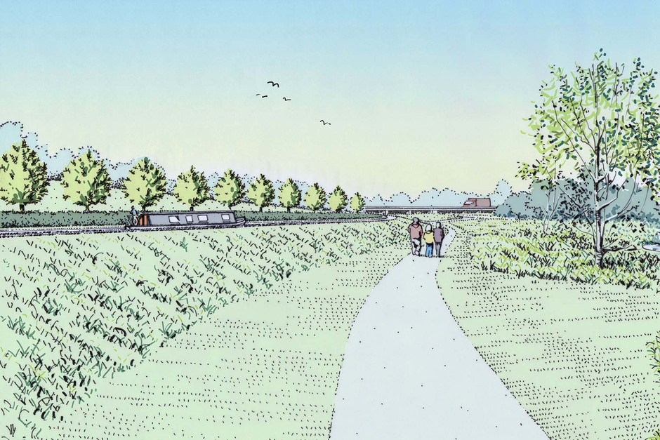 Proposed canal reinstatement perspective