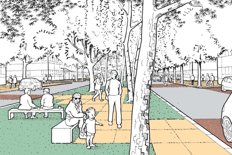 Artist impression proposed boulevard
