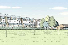 Proposed residential development and recreation space