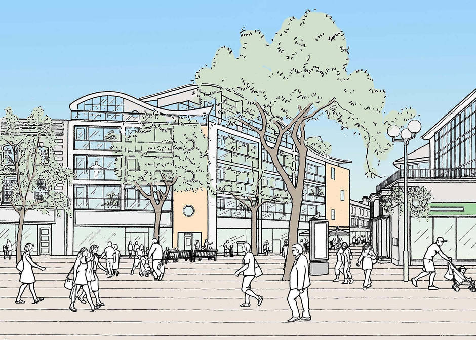 Illustration of shopping centre proposal