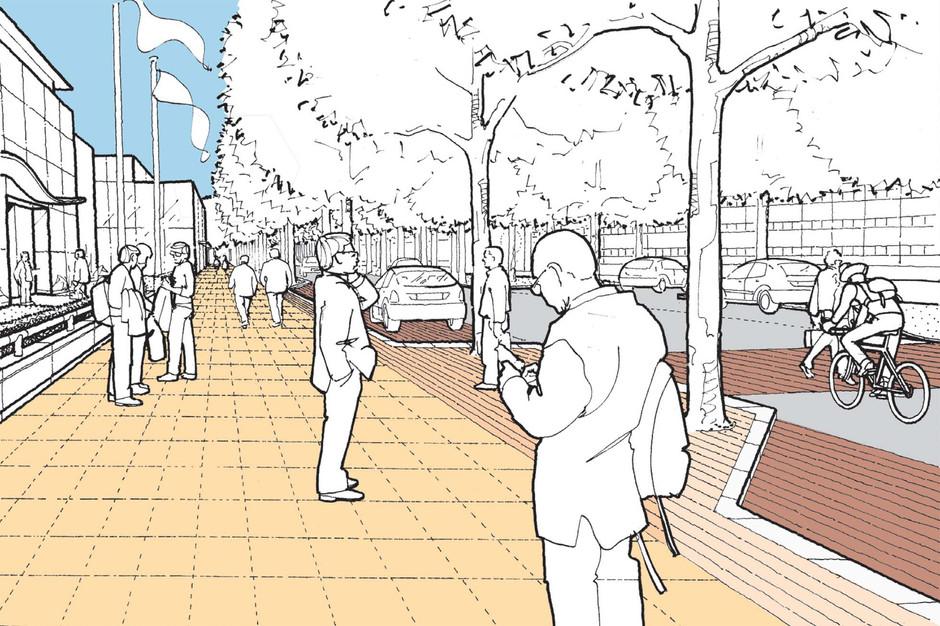 Proposed boulevard illustration