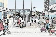 Proposed retail redevelopment and associated pedestrian-only public realm