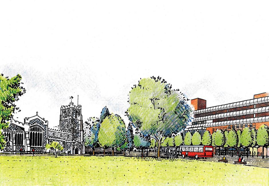 Illustration of proposed environmental improvements at Luton