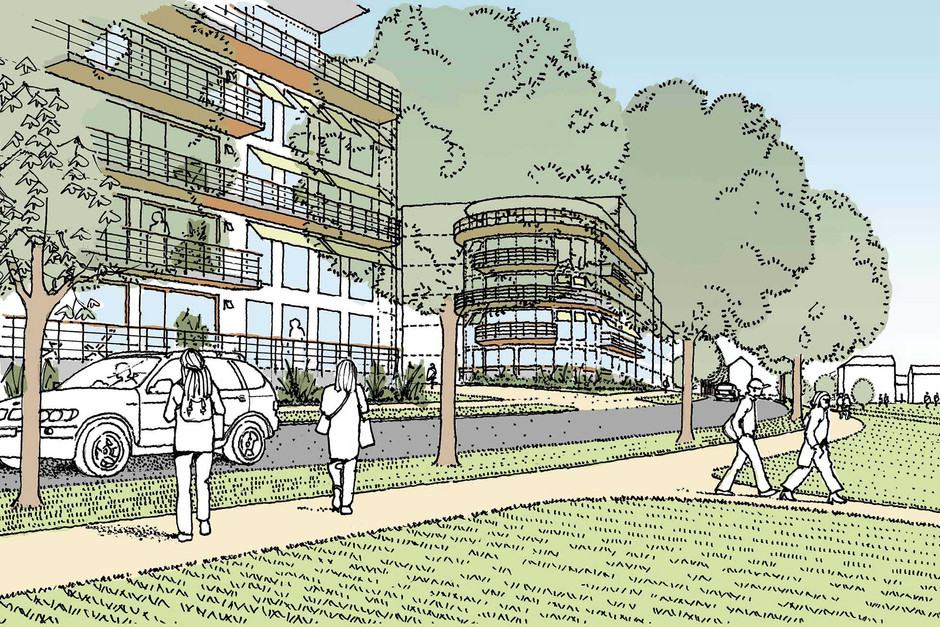 Proposed commercial development illustration