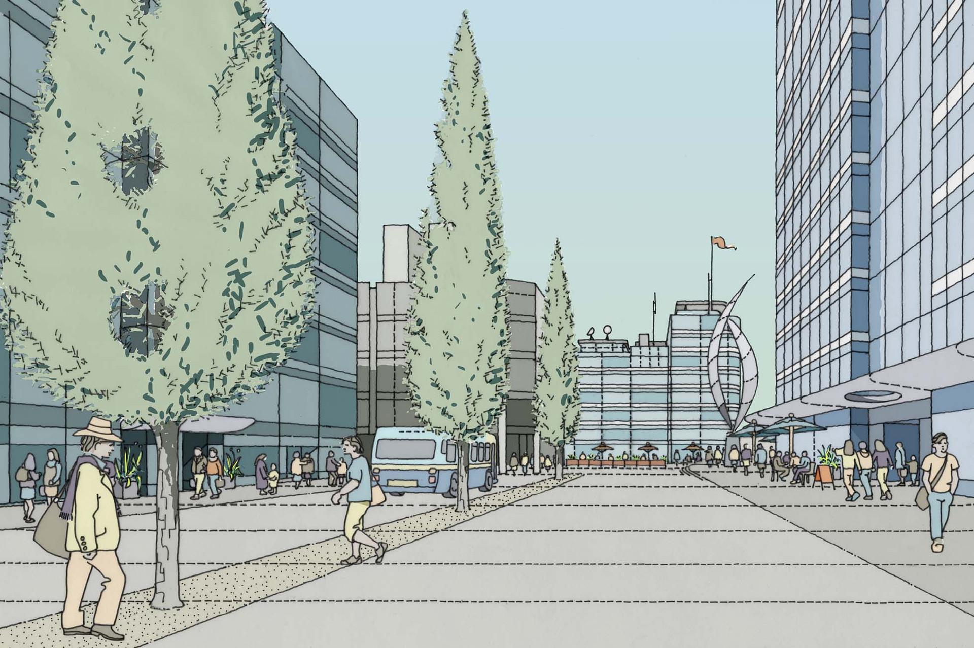 Proposed Portsmouth City Centre illustration