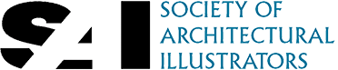 The Society of Architectural Illustrators logo and the organisation where Stephen Peart is a member.