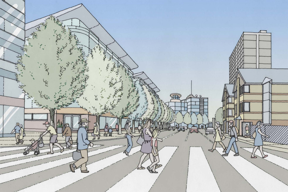 Perspective of proposed City Centre development