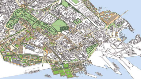 City Centre masterplan proposal - aerial perspective