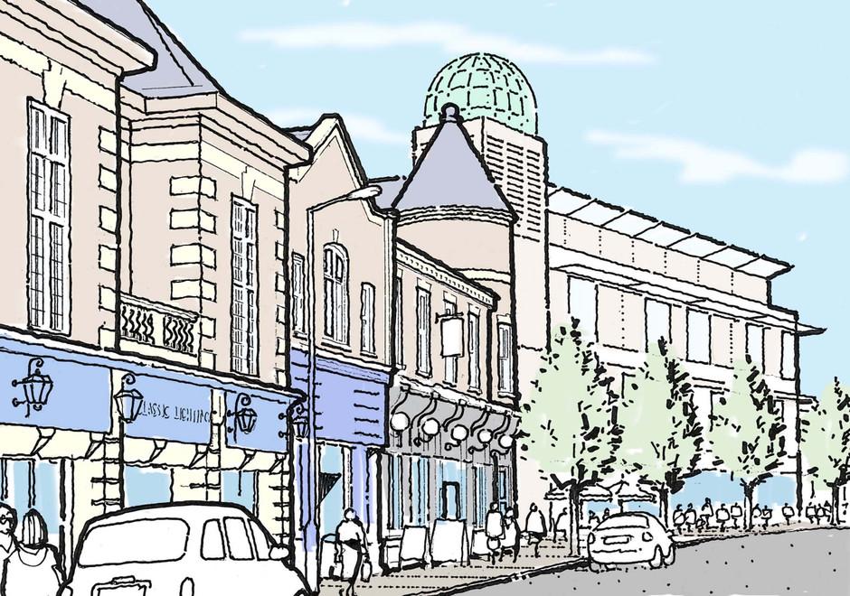 Town Centre redevelopment illustration