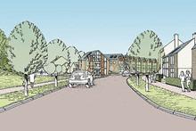 Proposed residential development - estate road