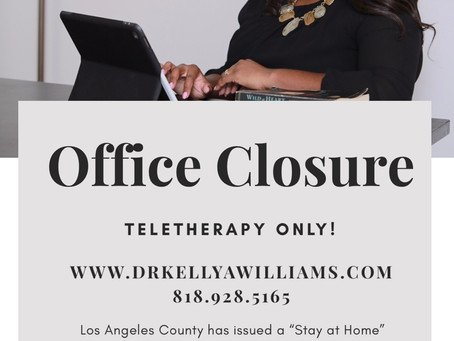 Office Closure - Teletherapy Only!