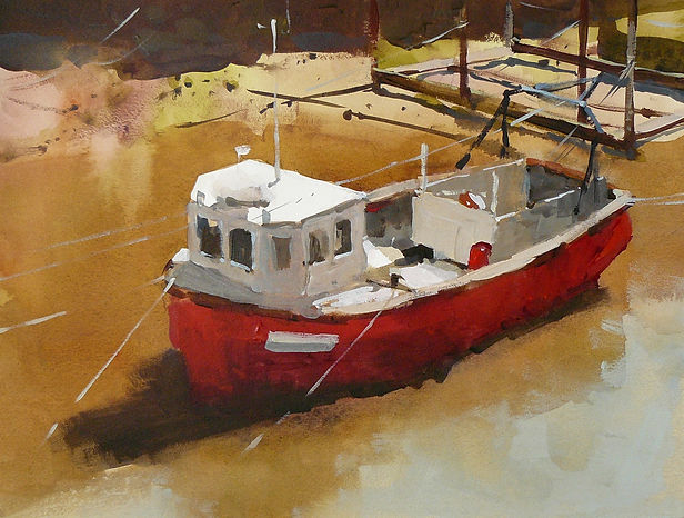 38x28 Shimmering light at Staithes Beck.