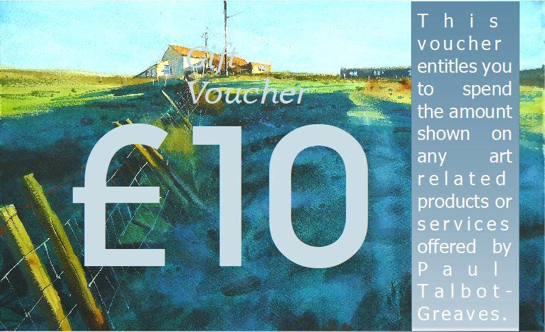 Shaded hillside. Cottage. Gift voucher by Paul Talbot-Greaves
