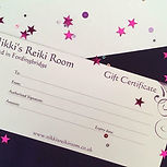 Gift Vouchers for massae, Reiki, facials, organic skincare.