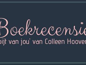 'spijt van jou' van Colleen Hoover - Boekrecensie - blogtour