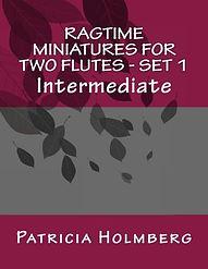 Ragtime Miniatures for 2 flutes - set 1.