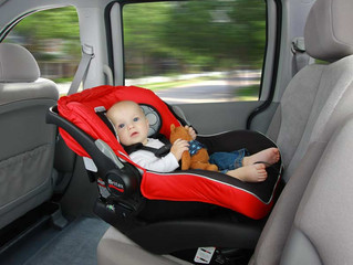 How to properly position the baby's car seat. ..