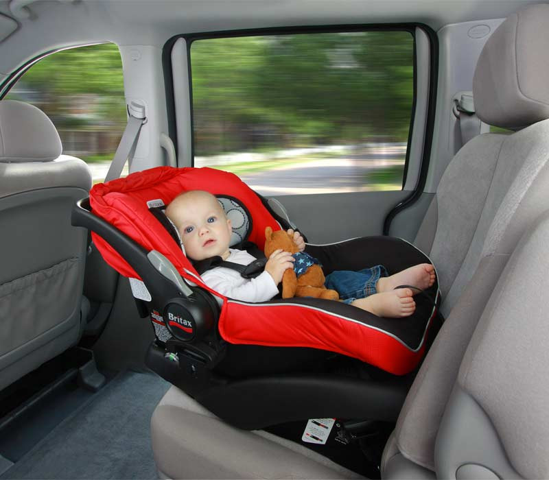 Baby rear facing on car