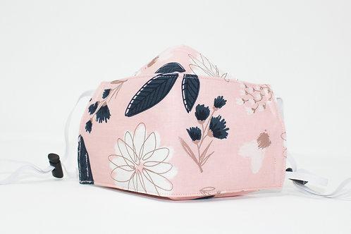 Pink Flower Origami Washable Face Mask