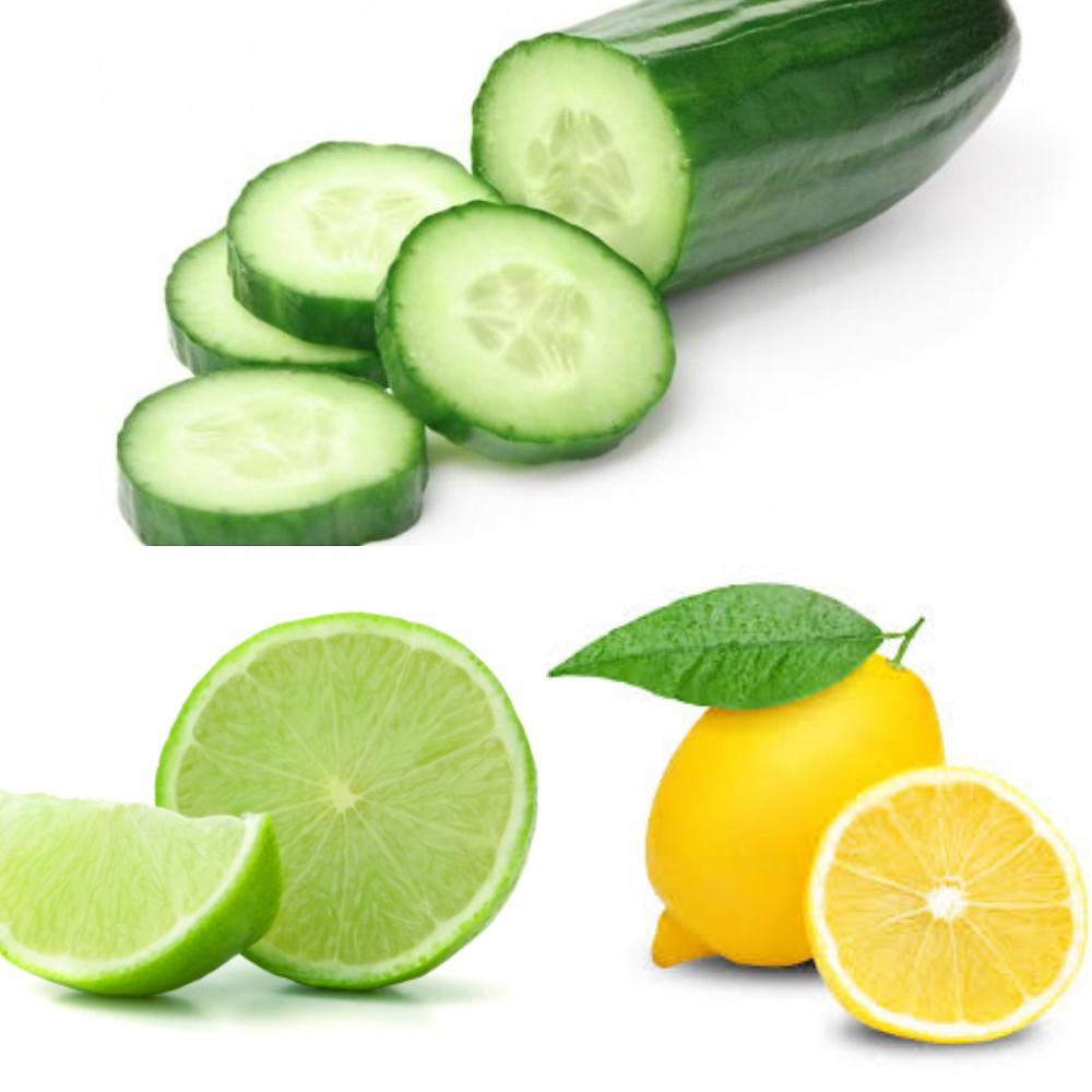 Cucumber, Lime, Lemon