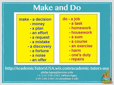 A1-A2 Vocab Bank - Make and Do 2009-2020