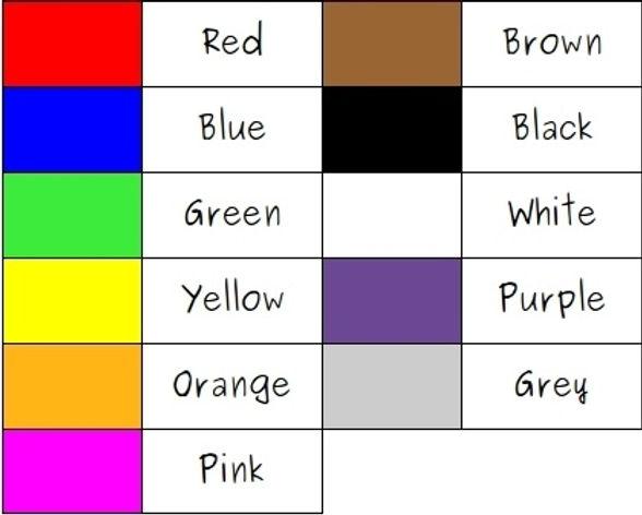 A1-A2 Vocab Bank - Colors - 2.0 - July 1