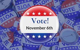 Vote Pin - Vote in November - July 6 202