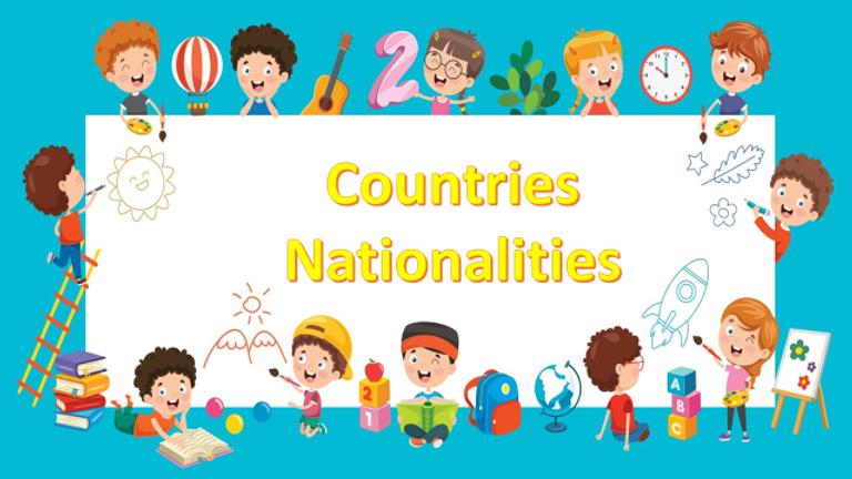 ESL Kids Slide 2 - Countries and Nationa