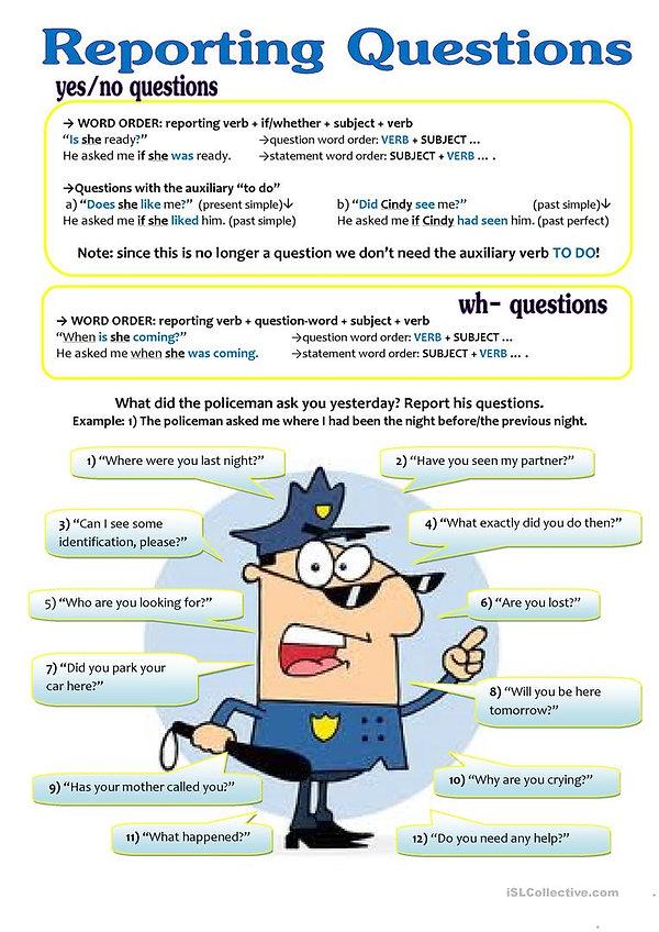 reported-speech-questions-grammar-drills