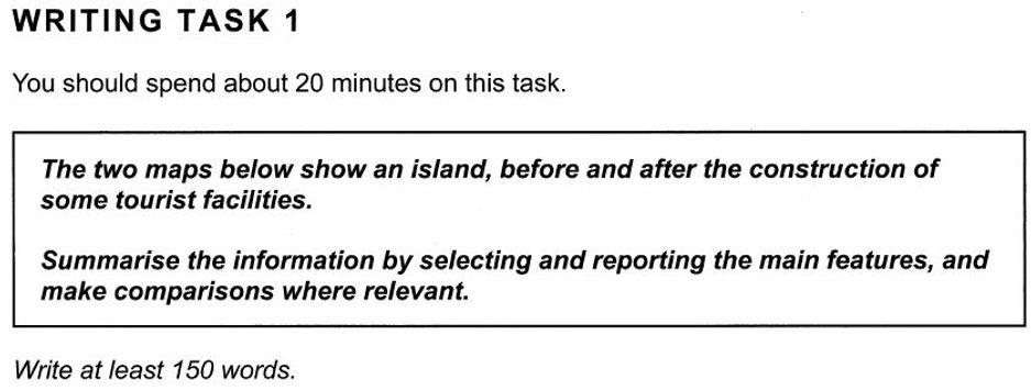 IELTS Writing Questions 1 - Islands - Ma