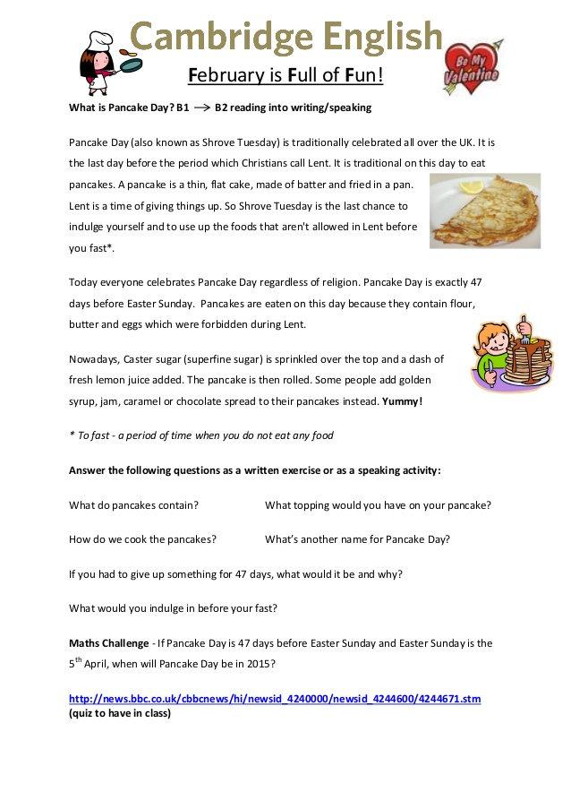 B1-B2 - Reading Act - Pancake Breakfast