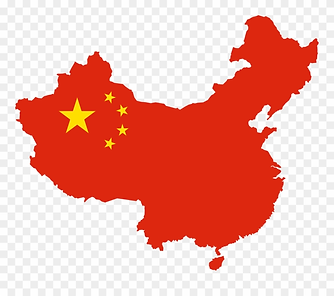 Chinese Flag with country outline Nov 7